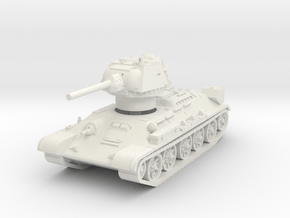 T-34-76 1942 fact. 183 late 1/87 in White Natural Versatile Plastic