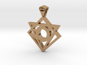 Iconic Symbol Pendant in Polished Brass