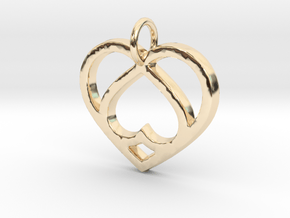 Unique Heart- Makom Jewelry in 14k Gold Plated Brass