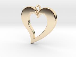 Love Heart- Makom Jewelry in 14k Gold Plated Brass