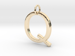 Q Pendant -Makom Jewelry in 14k Gold Plated Brass