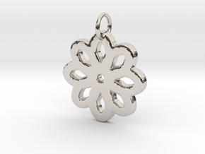 Minimalist flower- Makom Jewelry in Rhodium Plated Brass