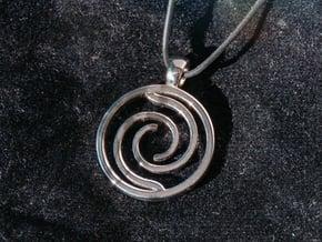 Vortex Amulet in Rhodium Plated Brass