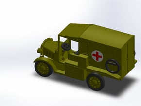 1917 MODEL T AMBULANCE in Smooth Fine Detail Plastic