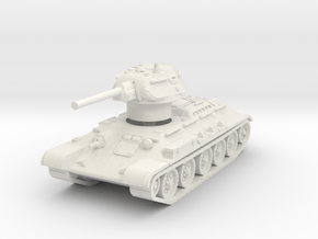 T-34-76 1942 fact. 112 late 1/87 in White Natural Versatile Plastic