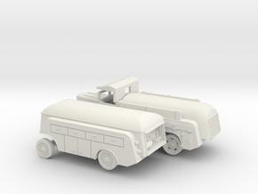 1/144 Tanker Set Mercedes + Sd.Anh. 454 in White Natural Versatile Plastic