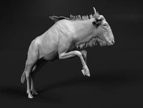 Blue Wildebeest 1:16 Leaping Female 1 in White Natural Versatile Plastic
