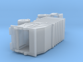 Vuilniswagen schaal N / Garbage truck scale N in Smoothest Fine Detail Plastic