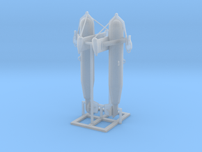 72nd Scale Paravane Pair in Smooth Fine Detail Plastic