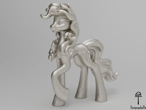 Pinkie Pie MLP (Au, Ag, Pt, Bronze, Brass) in Fine Detail Polished Silver