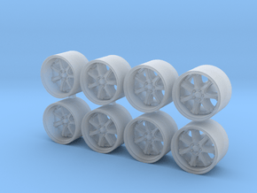 GT7 815-55 1/64 Scale Wheels in Smooth Fine Detail Plastic