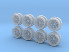 Equip 03 7-5 Hot Wheels Rims in Smooth Fine Detail Plastic