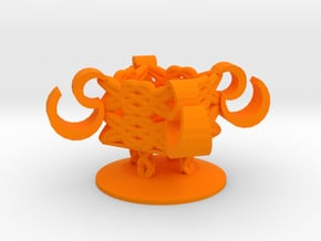 Chinese_Style_Candlestick in Orange Processed Versatile Plastic