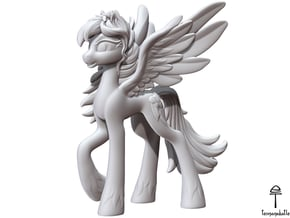 Rainbow Dash My Little Pony (Plastic, 8.2 cm tall) in White Natural Versatile Plastic