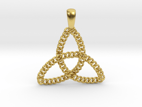 Trinity Knot Loops in Polished Brass