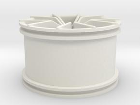 Pista alla moggia Rim in White Natural Versatile Plastic