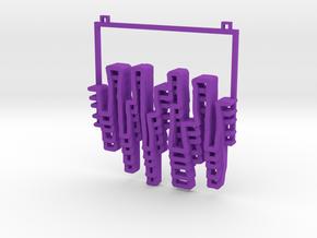 Alleys/Skylines Pendant in Purple Processed Versatile Plastic