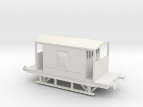 BR 20 Tone Brakevan V1 O-Scale in White Natural Versatile Plastic