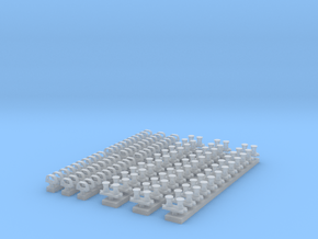 1:200 Scale USN Reduced RCS Bitts and Chocks in Smooth Fine Detail Plastic