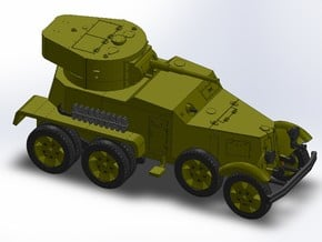 WW2 RUSSIAN ARMORED CAR in Smooth Fine Detail Plastic