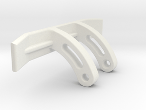 Schober clamp with 1 inch added to both ends in White Natural Versatile Plastic