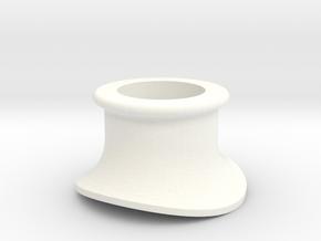 """3/4"""" Scale USRA Heavy Mikado Smoke Stack in White Processed Versatile Plastic"""
