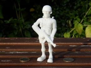 Paratrooper in White Natural Versatile Plastic