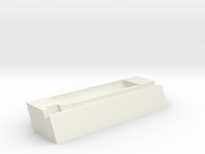 Docking station for LILYGO® T5 4.7 (18650 holder) in White Natural Versatile Plastic