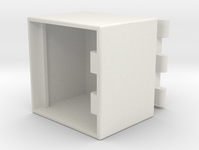 Toolbox-50x50x40mm in White Natural Versatile Plastic