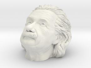 Einstein Head in White Natural Versatile Plastic