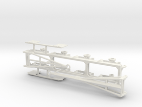 1/64th Quad axle pup trailer frame w options in White Natural Versatile Plastic