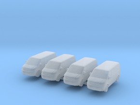 VW Transporter T5 (x4) 1/350 in Smooth Fine Detail Plastic