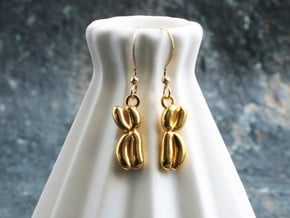 Chromosome Earrings - Science Jewelry in 14k Gold Plated Brass