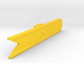 Signal Semaphore Blade (Fish Tail) 1:19 scale in Yellow Processed Versatile Plastic
