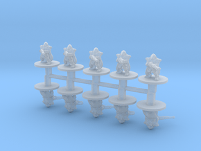 Mechanic Troopers 6mm infantry miniature model set in Smoothest Fine Detail Plastic