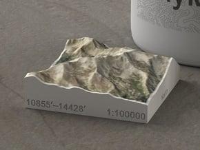 Mt. Massive, Colorado, USA, 1:100000 in Natural Full Color Sandstone