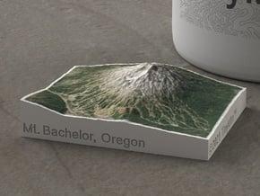 Mt. Bachelor, Oregon, USA, 1:100000 in Natural Full Color Sandstone