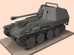 1/30 Marder III ausf M (Panzerjager 38) in White Natural Versatile Plastic