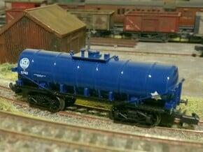 N Gauge 40T Bogie Caustic Soda Tanker in Smoothest Fine Detail Plastic