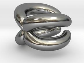 Chromosome Ear Cuff in Polished Silver