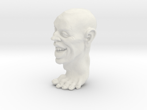 Foot Guy 75mm  in White Natural Versatile Plastic