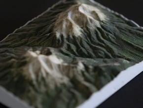 Spanish Peaks, Colorado, USA, 1:100000 in Natural Full Color Sandstone