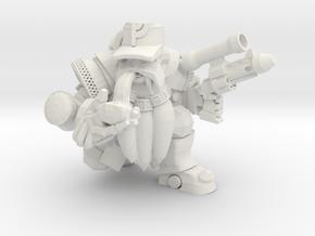 Space Dwarf in White Natural Versatile Plastic