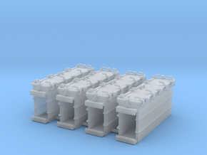 """1/72 Royal Navy 4.7"""" Ready Use Lockers (Tall) x4 in Smoothest Fine Detail Plastic"""