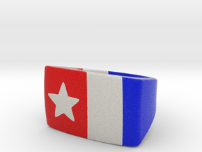 Star And Stripes Ring - US size 7 in Full Color Sandstone