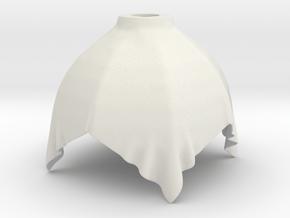 Cloth Lamp 3 in White Natural Versatile Plastic