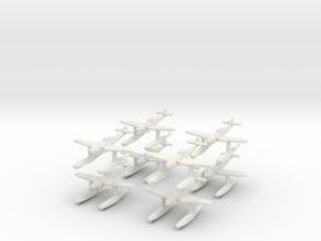 1/350 Messerschmitt Bf-109W (x8) in White Natural Versatile Plastic