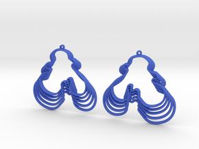 Water's Edge Earrings in Blue Processed Versatile Plastic