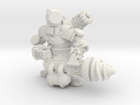 Space Dwarf Engineer in White Natural Versatile Plastic