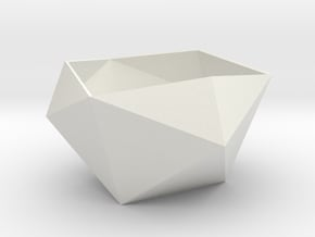 lawal 135 mm icosahedron shell section in White Natural Versatile Plastic